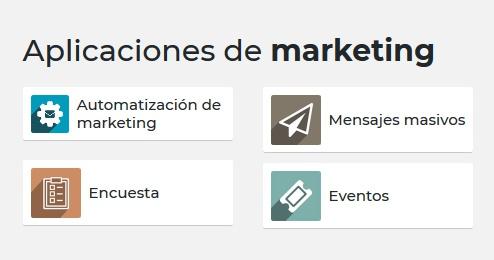 Aplicaciones de marketing en Odoo