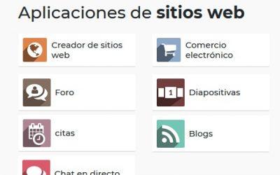 Aplicaciones de sitios web en Odoo